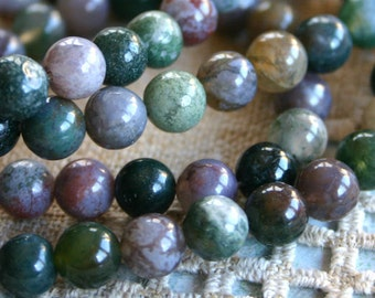 50pcs Natural Gemstone Beads Fancy Jasper 8mm 16 Inches