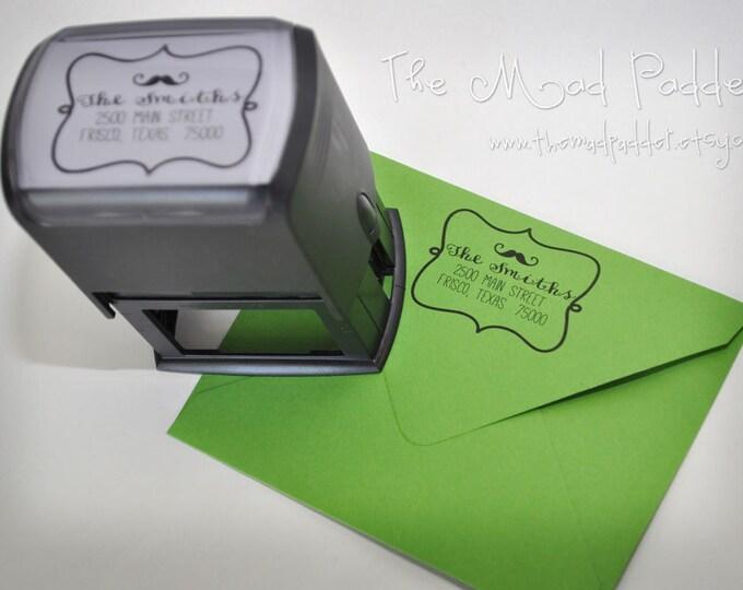 Custom Self-Inking Rectangle Address Stamp