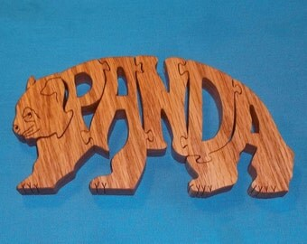 Panda Bear Scroll Saw Wooden Puzzle