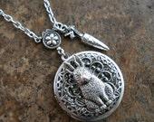 Hunny Bunny Locket in Silver, Rabbit Locket, Easter Locket  Exclusively by Enchanted Lockets