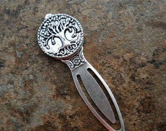 Tree of Life Bookmark in Antiqued Silver