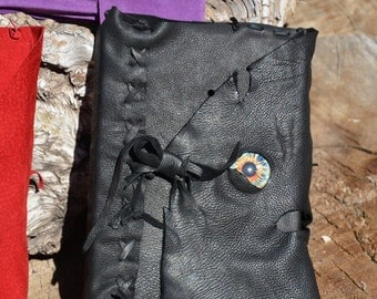 Hand  Stitched  Refillable   Leather   Journal  with  Hardbound  Blank  Sketch Book