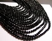 Black Onyx - 6mm faceted beads -1 full strand - 65 beads - AA quality - big cut - RFG946