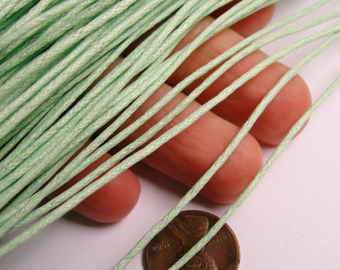 Wax cotton cord - 1.5mm - pastel green  - 90 meters - 295 foot - 1.5mm wax cord