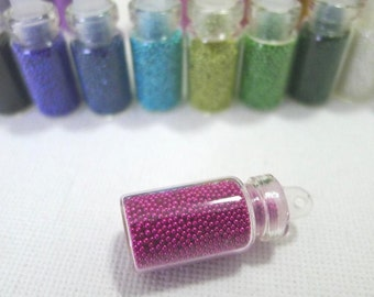 Fake Sugar Sprinkles / Micro Marbles (Magenta Pink) - for Miniature Food Deco and Nail Art