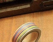Tape-Washi Tape-Masking Tape-Single Roll-Stamps-RAINBOW STRIPES-Multi color stripes