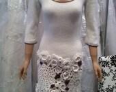 SALE Irish crochet/knitted dress