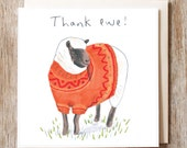 Thank You Cards 'Thank Ewe' Pack of six cards