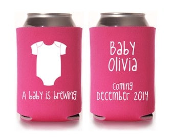 baby shower koozie favors baby shower favors coed baby shower baby