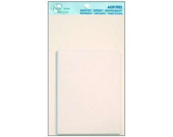 Paper Accents Card & Envelope 4.25 x 5.5 White Blank Plain 10pcPaper