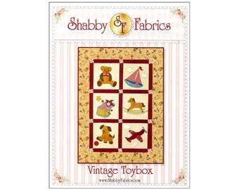 Quilt Pattern Patterns Shabby Fabrics Vintage Toybox Toy Box Toys