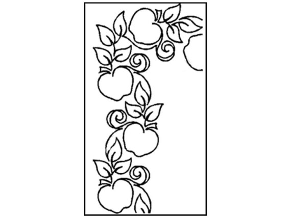 Vine Quilting Stencils : Items similar to Quilting Creations Stencil Quilt Quilting Apple Orchard Leaf Leaves Leafy Vine ...