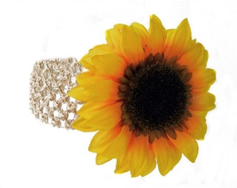 Flower Accessory Dog Neck Band - Harvest Sunflower