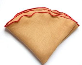 Solid Linen Pocket Circle