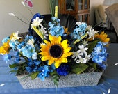 Sunflower Rustic Centerpiece