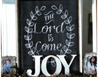 The Lord is Come Chalkboard Printable (Instant Download)