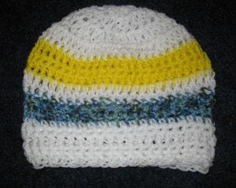 Sunshine to Dusk - Summer Crocheted hat / skull cap / slouch hat / beach wear