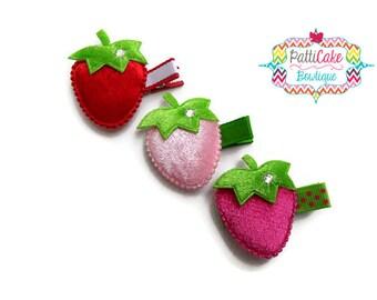 Strawberry Hair Clips for Girls, Baby Girls Hair Barrettes, Hair Accessories, Toddler Hair Clip, Little Girls Hair Clips, Baby Hair Clips