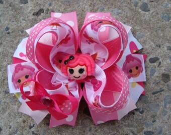 Lalaloopsy Hair Bow Pink Lalaloopsy Boutique Hair Bow Large hair bow