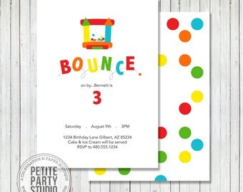 Bounce House Birthday Party Invitation - Petite Party Studio