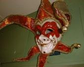 Fantastic JESTER MASK Mardi Gras Carnival to Wear or Wall Decor