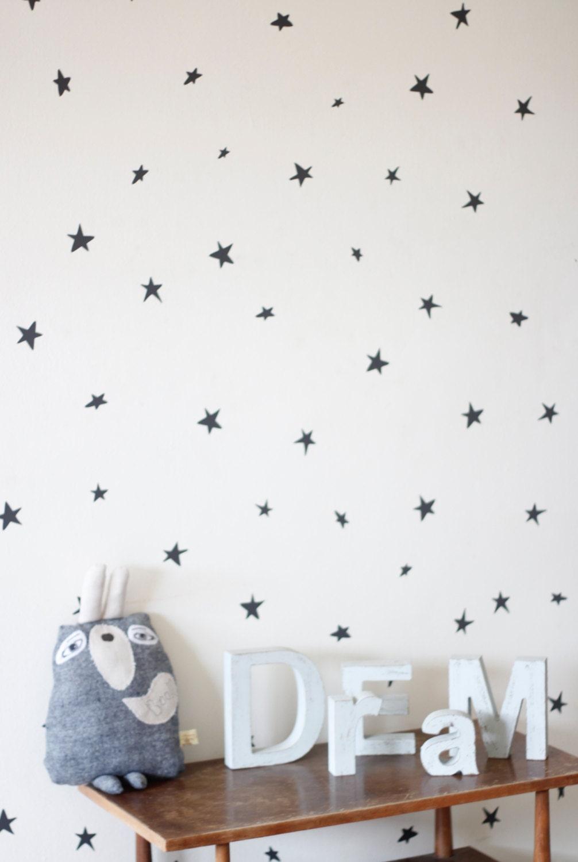 Grey Star Wall Decor : Stars in dark grey wall decals