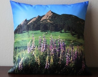 Boulder , Boulder Colorado , Boulder Colorado Pillow Cover, Flatirons , Colorado, Home Decor, Colorado Gift