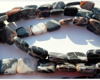 """Beach Rock / Stone Drilled Beads - By the Strand - 16"""" About 22 - 23 Beads per Strand"""