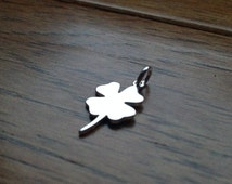 Sterling Silver 4 Leaf Clover Pendant or Charm  - FAST SHIPPING