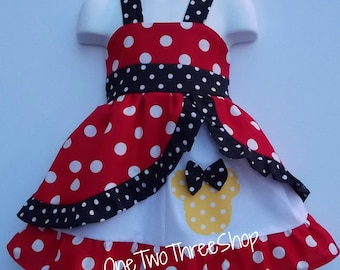 Minnie Med red  peekaboo Jumper Dress
