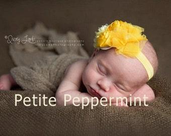 Baby headband, newborn headband, infant headband, toddler headband - Yellow Flower Baby Head Band