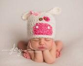 Newborn Cow Hat  Newborn Photo prop