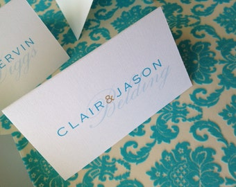 Very Simple Modern Place Card