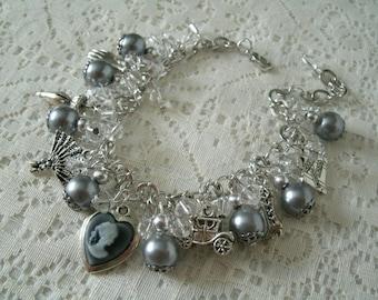 Victorian Charm Bracelet, victorian jewelry edwardian jewelry art nouveau jewerly steampunk jewelry renaissance art deco neo victorian