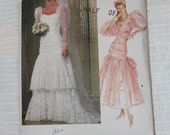 Bridal Gown 1980s Vintage Sewing Pattern VOGUE 1826, UNCUT
