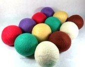 Wool Dryer Balls - May Flowers - Set of 12 Eco Friendly - Can be scented or unscented