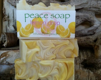 lemon drop peace soap