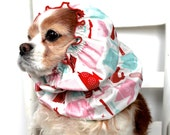 Retro Kitchen Dog Snood - Stay Put 3 Rows Elastic Thread - Cavalier King Charles or Cocker Spaniel Snood