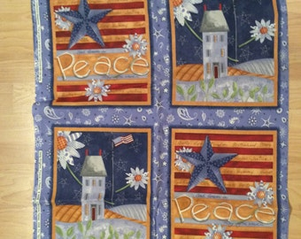 A Wonderful Forever In Peace By Daisy Kingdom Fabric Panel Free US Shippingn Out Of Print