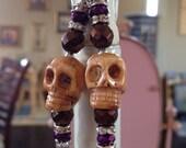 Bone Skull Glam Earrings