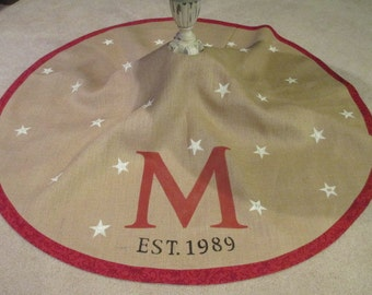 Large personalized Christmas tree skirt