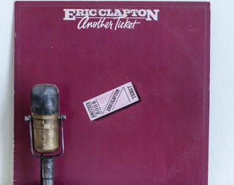 "ON SALE Eric Clapton Vinyl Record Album 1970s Blues Rock Pop Guitar Hero LP ""Another Ticket"" (1981 Rso w/""I Can't Stand It"") Vinyl Record Al"