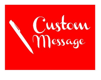 Custom Message fee for Cards