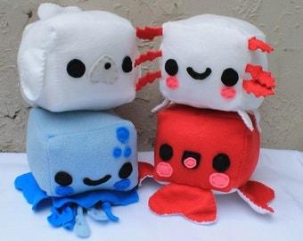 Marine Animal Plush - Kawaii Plushie , Cute Stuffed Animal, Children Softie, Children's Toy, Octopus, Jellyfish, Axolotl, Seal, Christmas