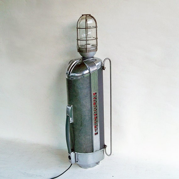 Hoover Industrial Pendant Light: 1940s Electrolux Vacuum Cleaner Upcycled Lamp Industrial