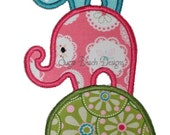 Stacked Elephants - Digital Appliqué Embroidery Design (00514)