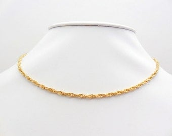 Vintage 14kt Gold Filled Rope Chain