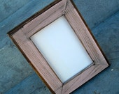 8x10 Picture Frame, Pink Rustic Weathered Style, Stained With Routed Edges