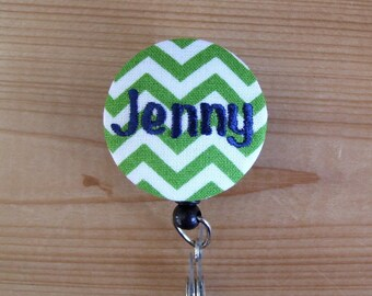 Retractable Badge Reel / Badge Holder - with NAME