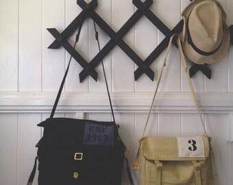 haversack black - rustic style messenger bag - australia